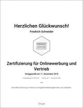 Onlinewerbung und Vertrieb