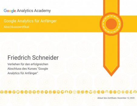 Analytics Zertifikat 1