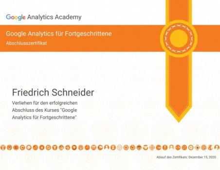 Analytics Zertifikat 2