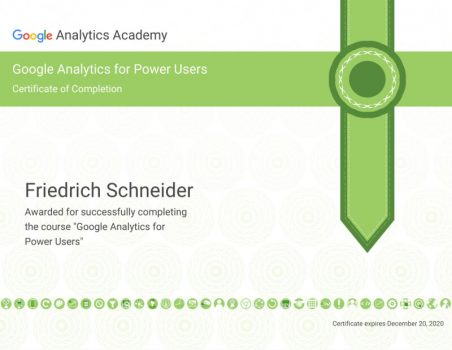 Google Analytics Power User